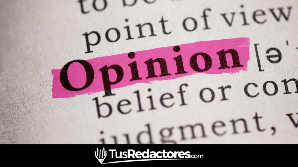 Redactar artículo de opinión